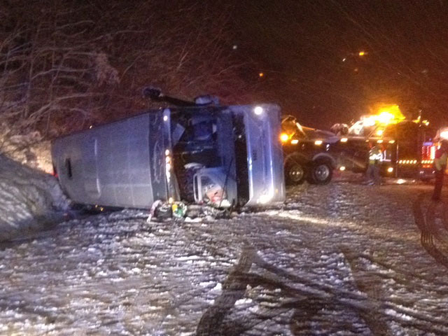 I-95 in Stafford County reopens after bus crash