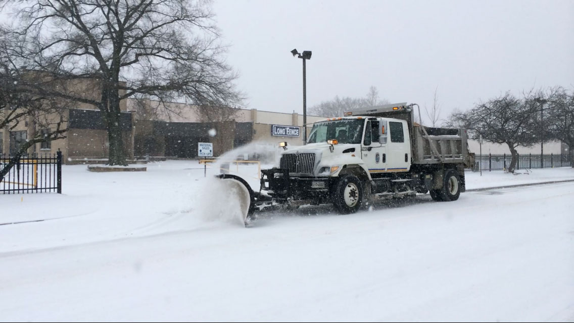 When the snow falls, plow driver is king of the road