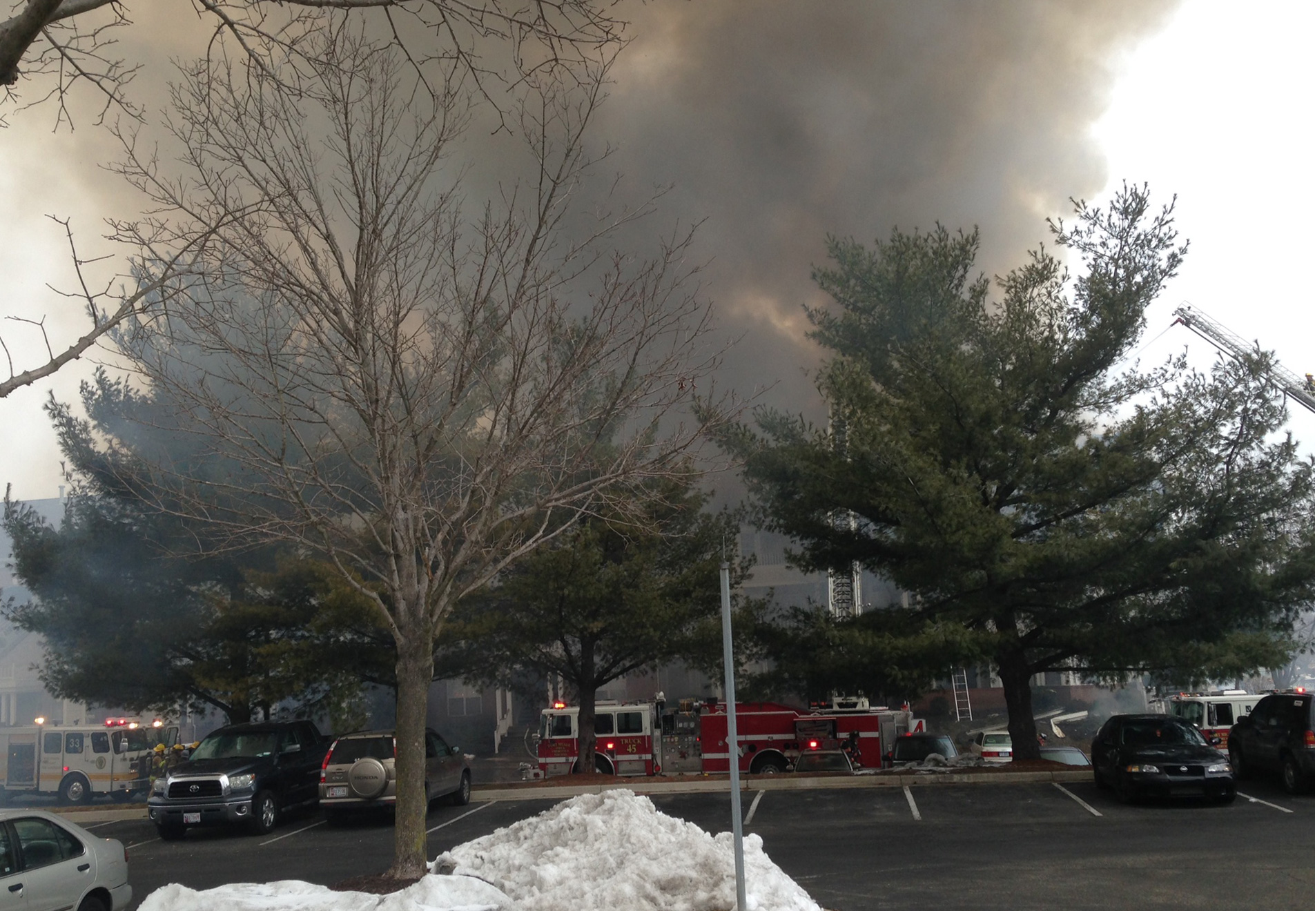 3-alarm fire displaces families in Odenton