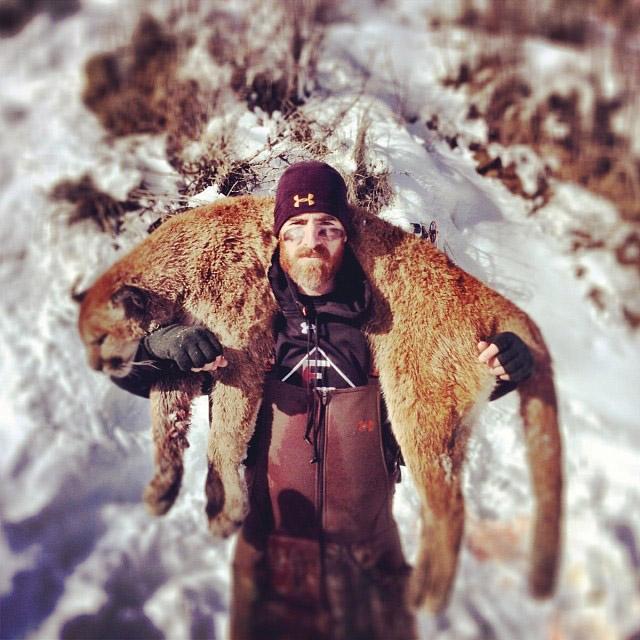 LaRoche hunts 150-pound mountain lion (Photo)