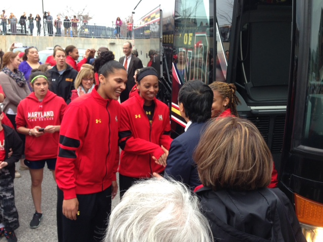 A loud, proud sendoff for the U.Md. women's basketball team