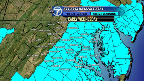 Region awakes to unusually cold temperatures