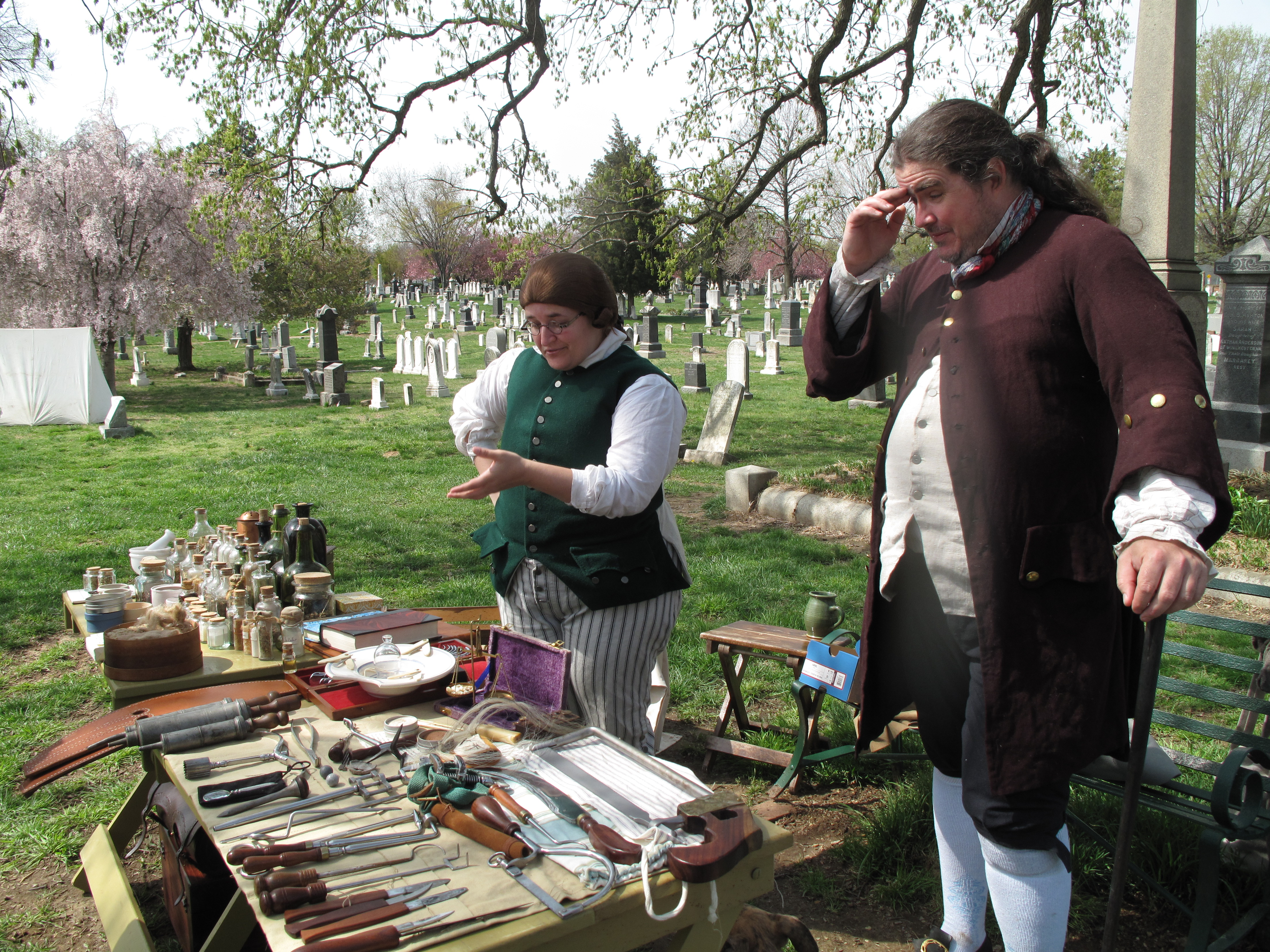 Revolutionary War reimagined at historic cemetery