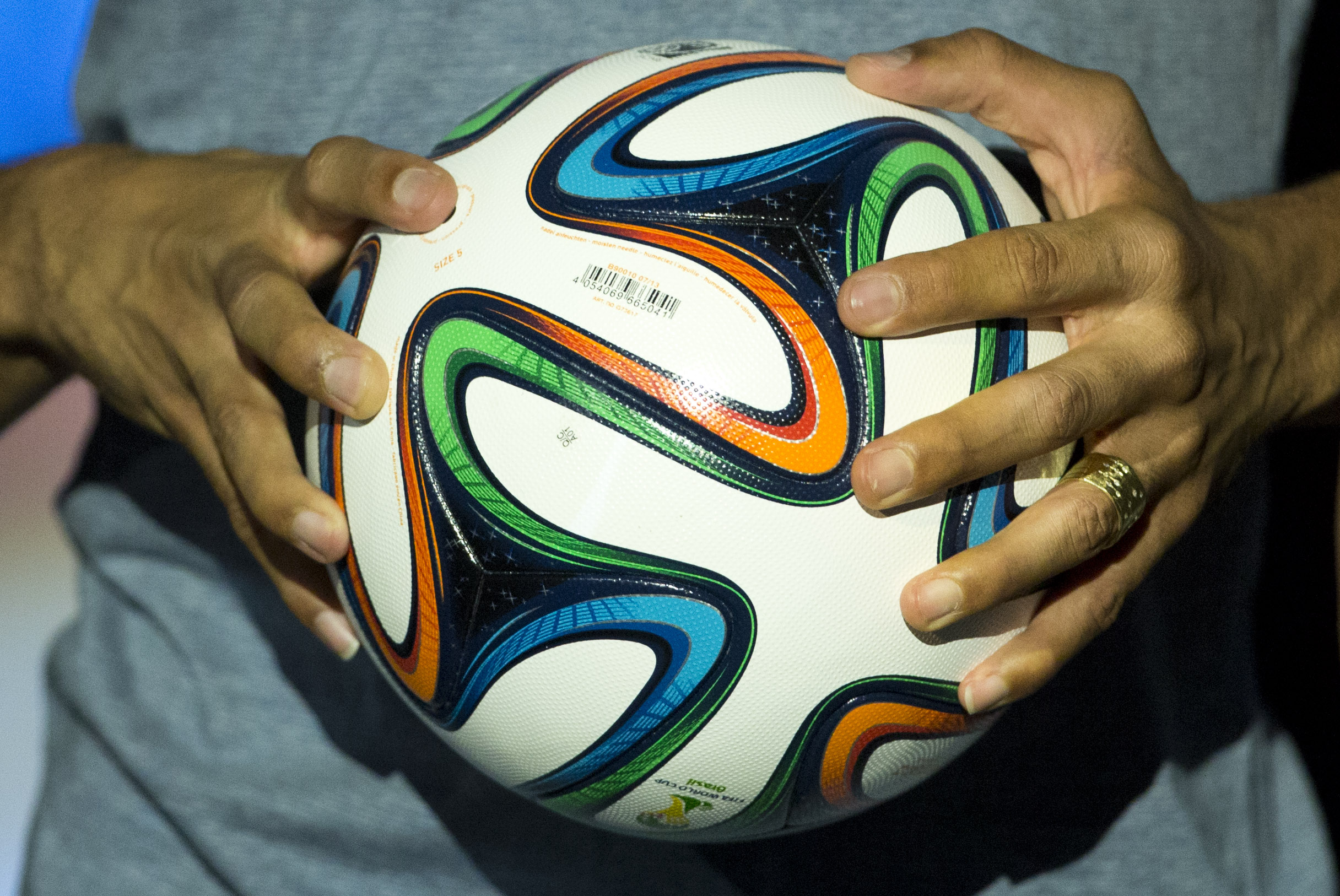 Panels, seams, power: Brazuca, ready for World Cup