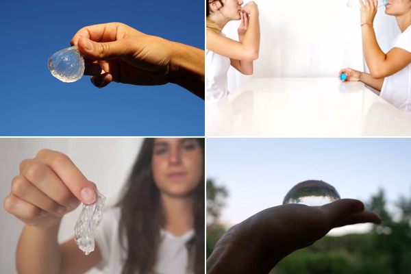 Can an edible water bottle replace plastic bottles?