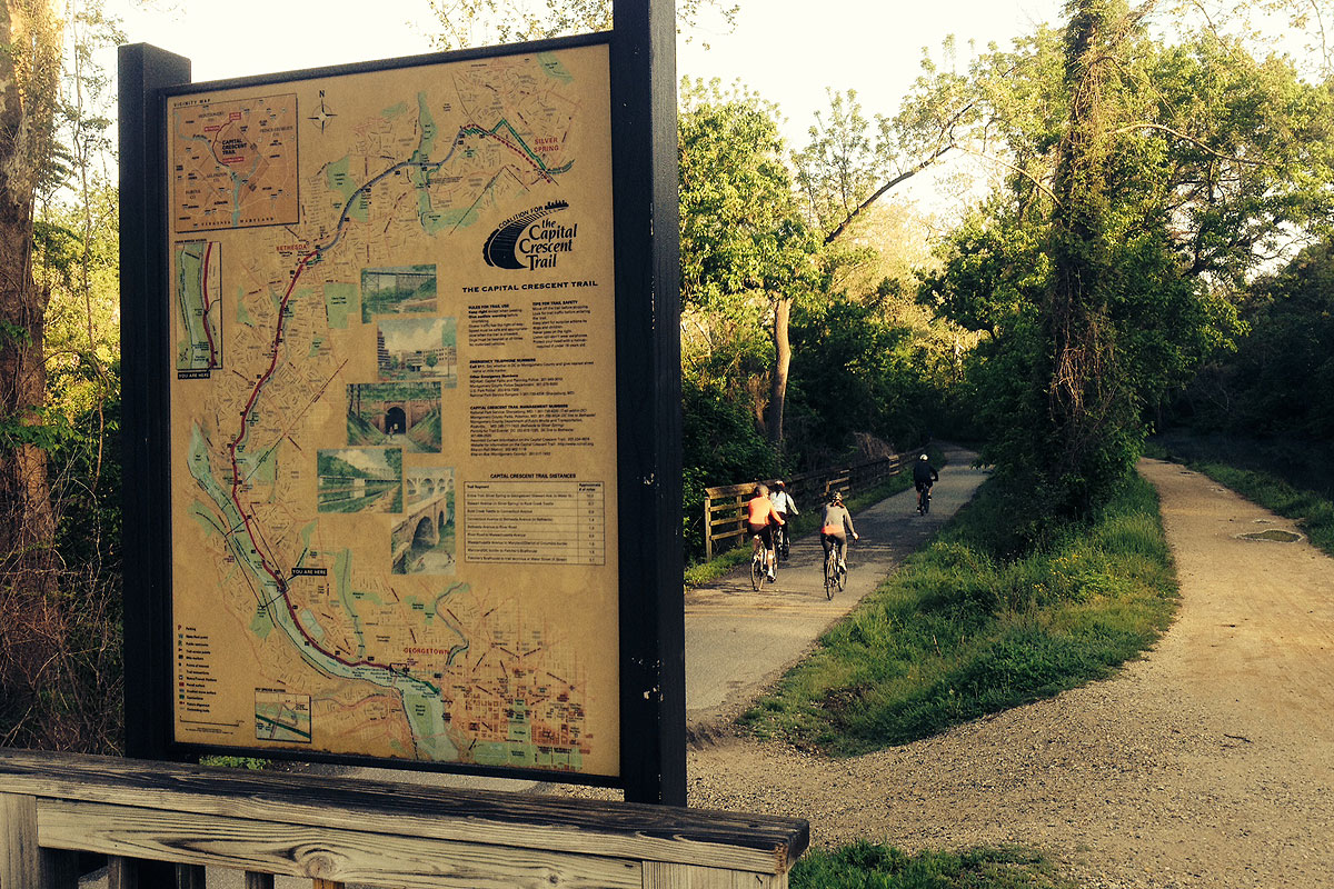 Capital Crescent Trail back in business