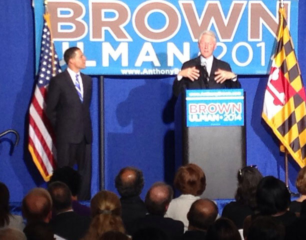 Bill Clinton touts Brown for Md. governor