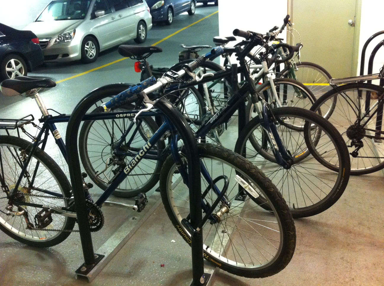 Bike commuters have their own parking problems