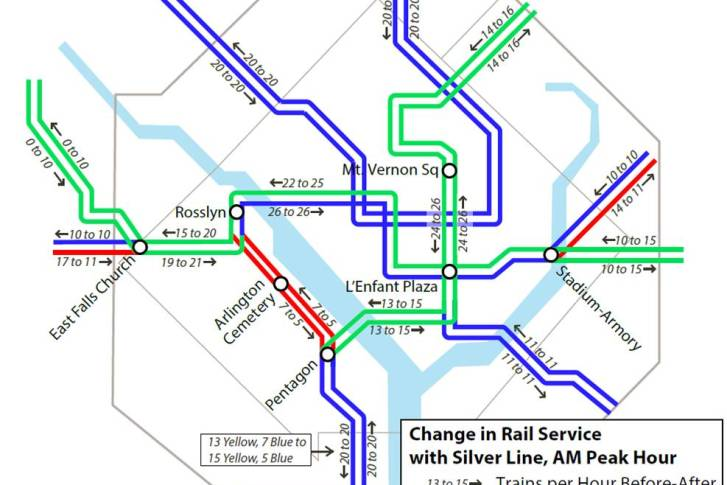 Silver Line Washington Dc Metro Map.Metro Riders Get Ready For Changes Ahead Of Silver Line Wtop