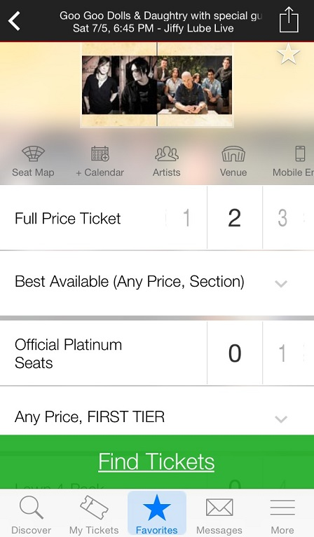 iPhone users jump to front of Ticketmaster line with new app