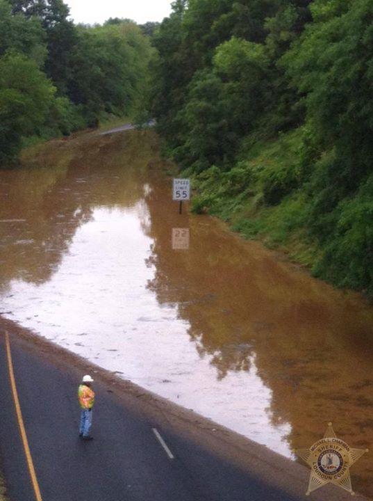 High waters converge for traffic headaches
