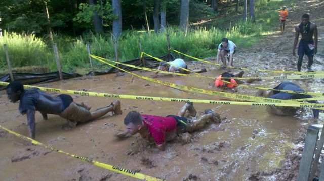 Families Run Amuck, get muddy and have a great time