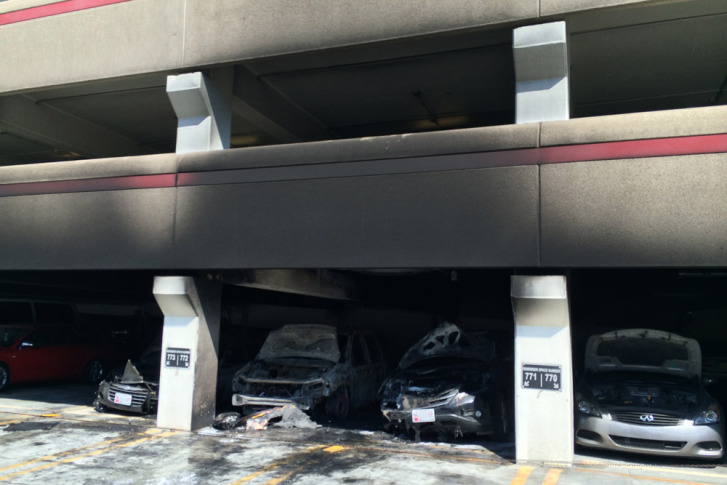 Car Catches Garage On Fire In Rochester: Cars Catch Fire At Silver Spring Garage