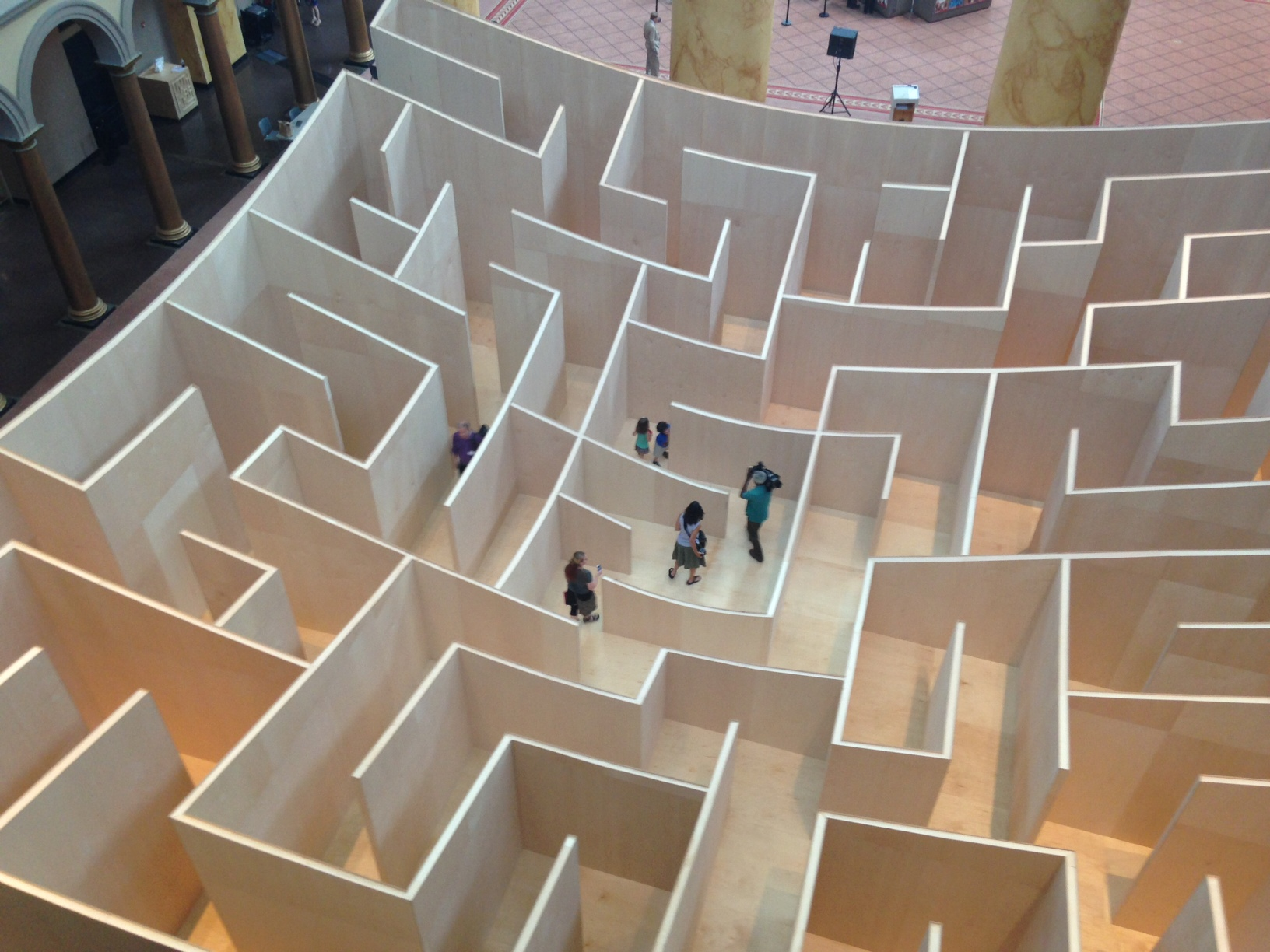 Giant maze taking over National Building Museum