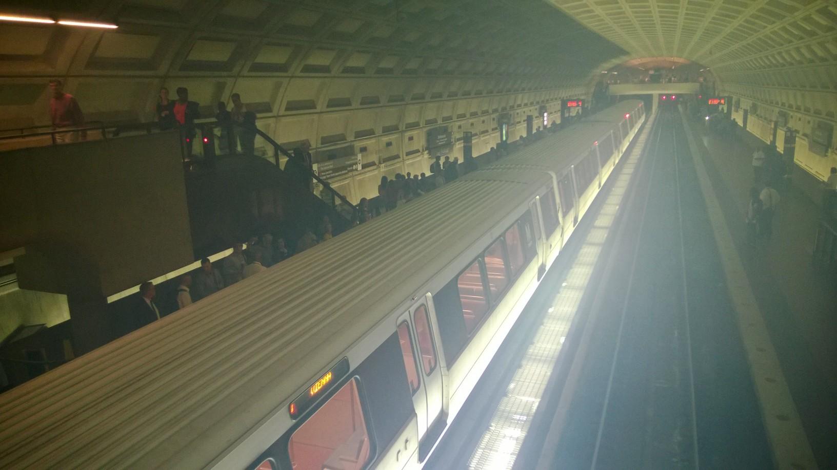 Smoke, noise after cover touches Metro third rail