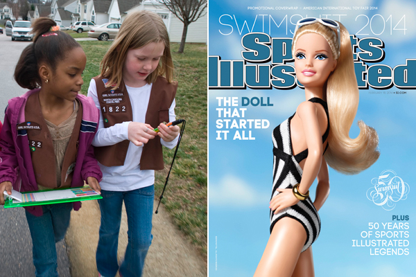 Girl Scout Barbie sparks debate on role models, commercialization