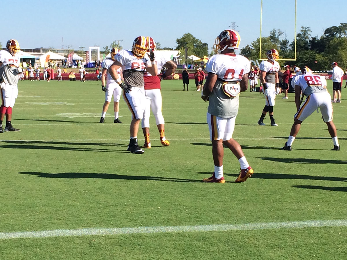 Redskins Training Camp blog: Pads and tats