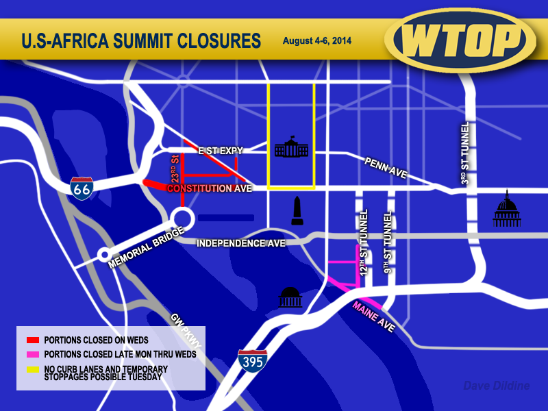 African summit to close roads throughout downtown D.C.