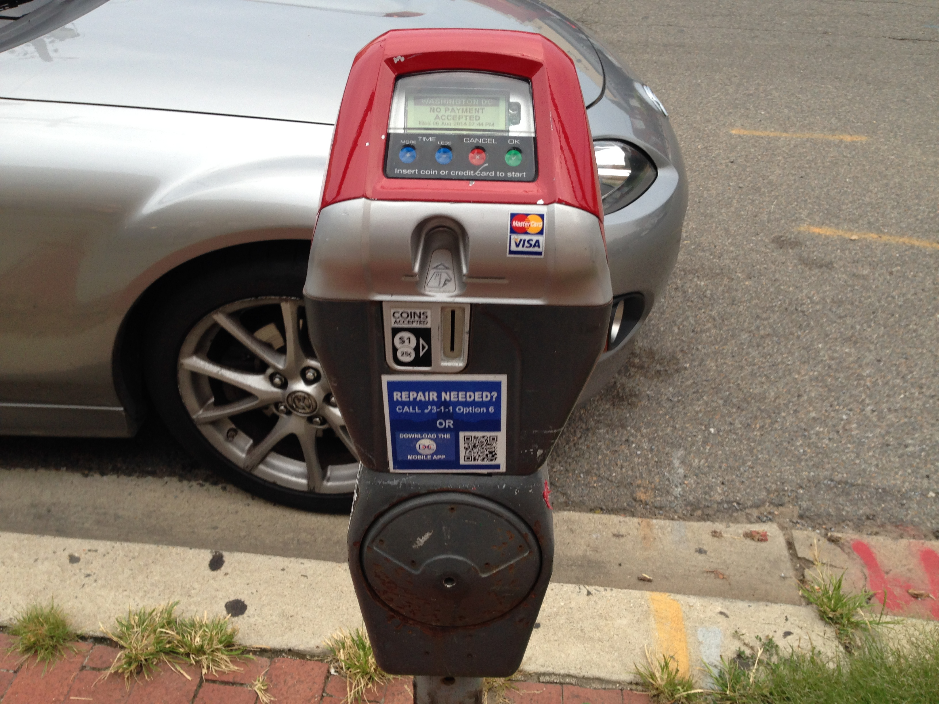 Red top parking meters coming to D.C. later this year