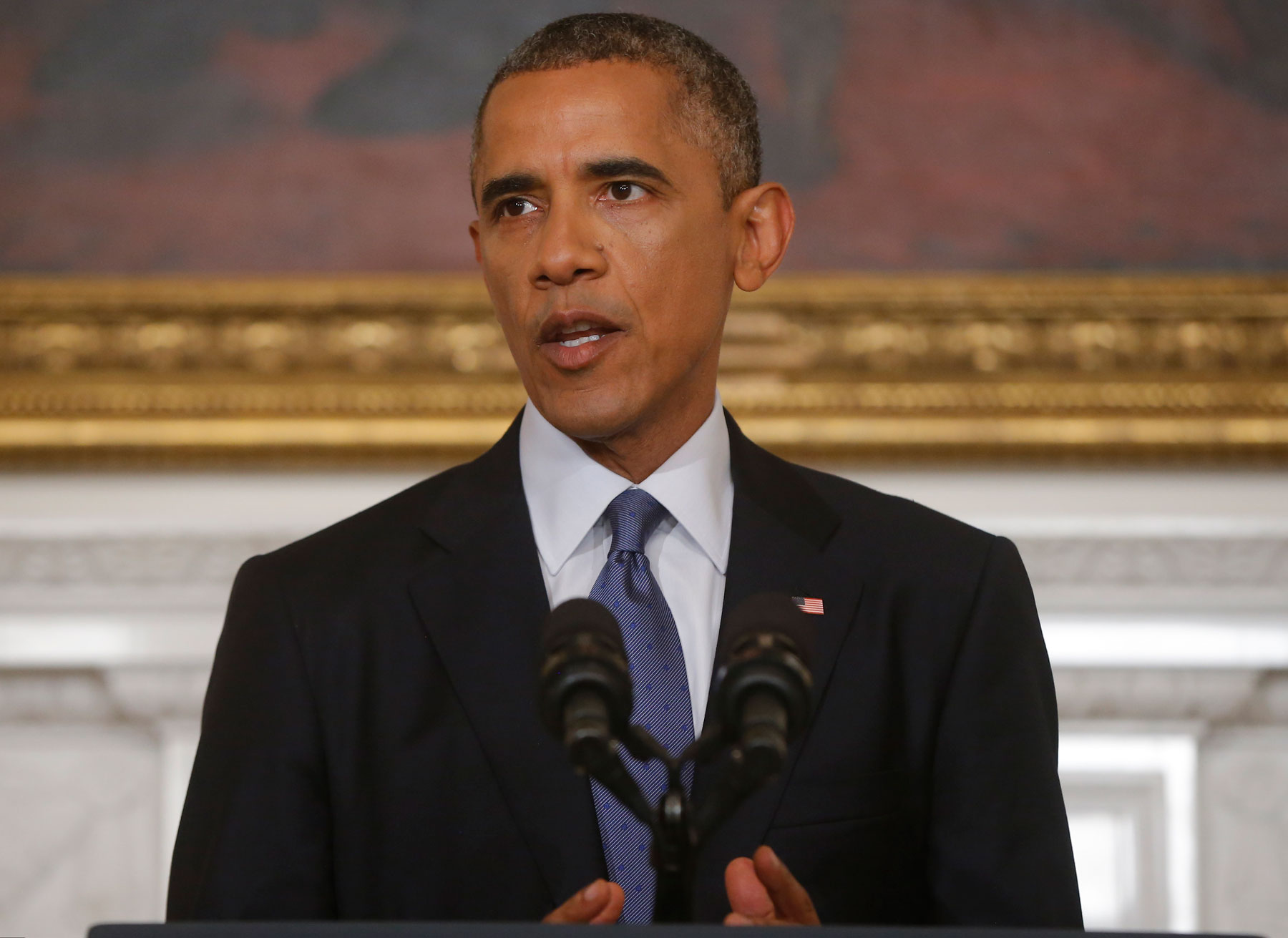 Text of Obama's statement on air strikes in Iraq
