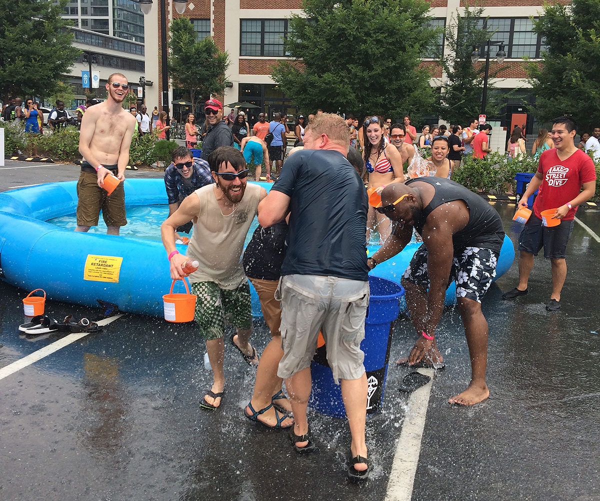The Yards park gets wet, wild at adult water party