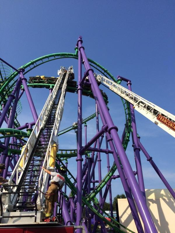 Six Flags investigating coaster stall in Maryland