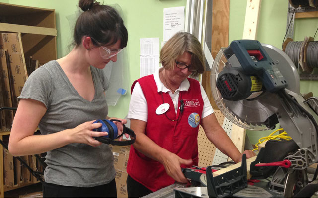 Power tools and manicures: A different kind of ladies night