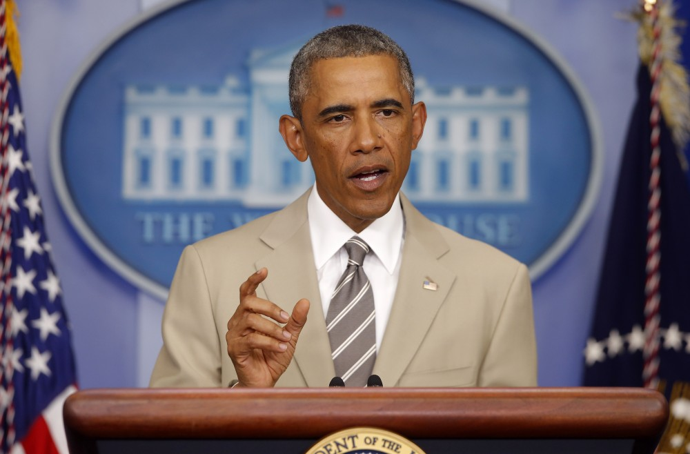 Was Obama's clothing choice suitable?