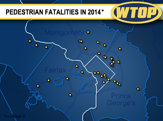 2014 tracking to be another deadly year for region's pedestrians