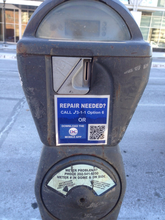 Can you park at a broken parking meter?