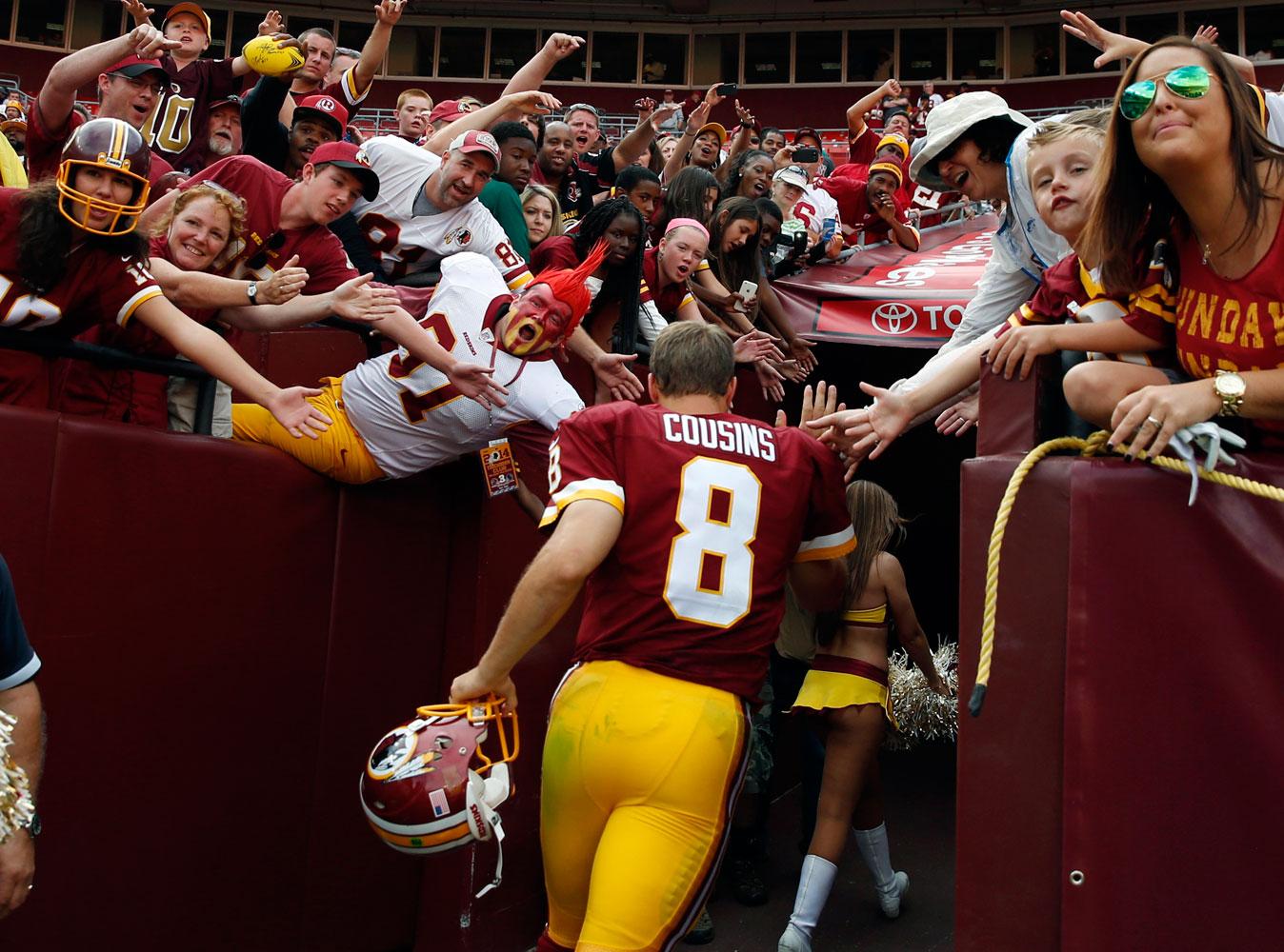 The Redskins' budding quarterback controversy