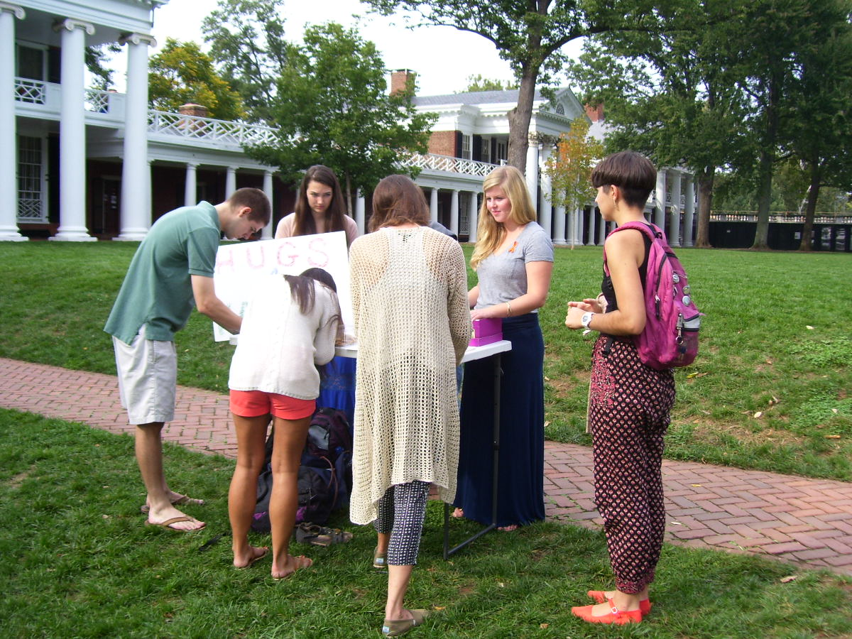 Hugs for Hannah: UVa. students refuse to give up hope