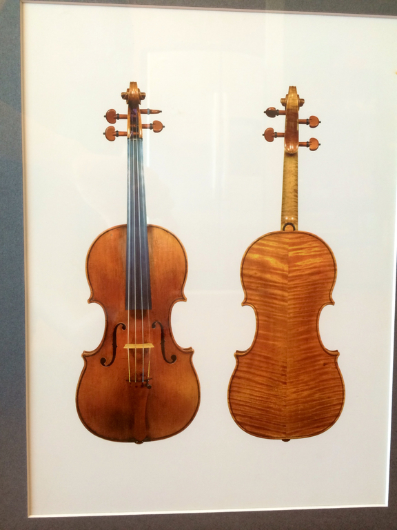 The body of the violin and the varnish, all original, are critical to the instrument\'s tone. (Courtesy Marc Apter)