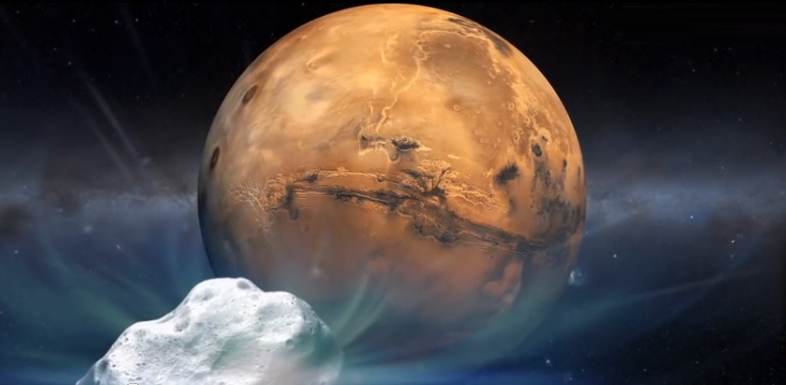 Watch Comet Siding Spring as it passes Mars