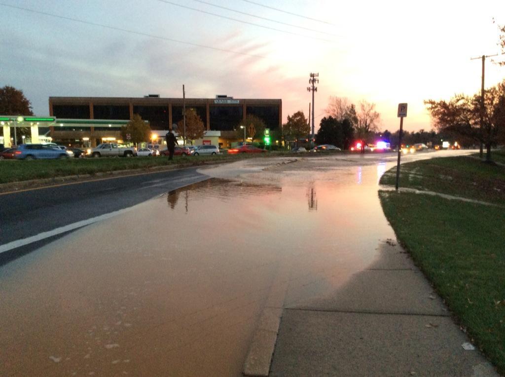 Water main breaks on Georgia Avenue