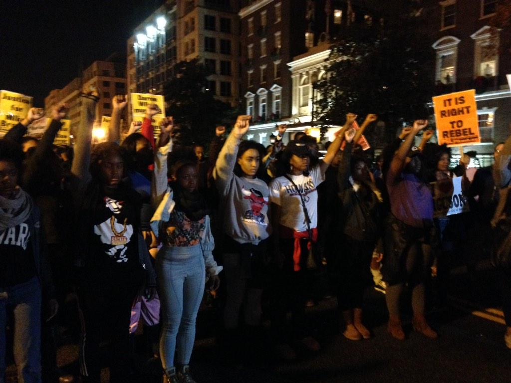 In D.C., Ferguson protests loud but peaceful