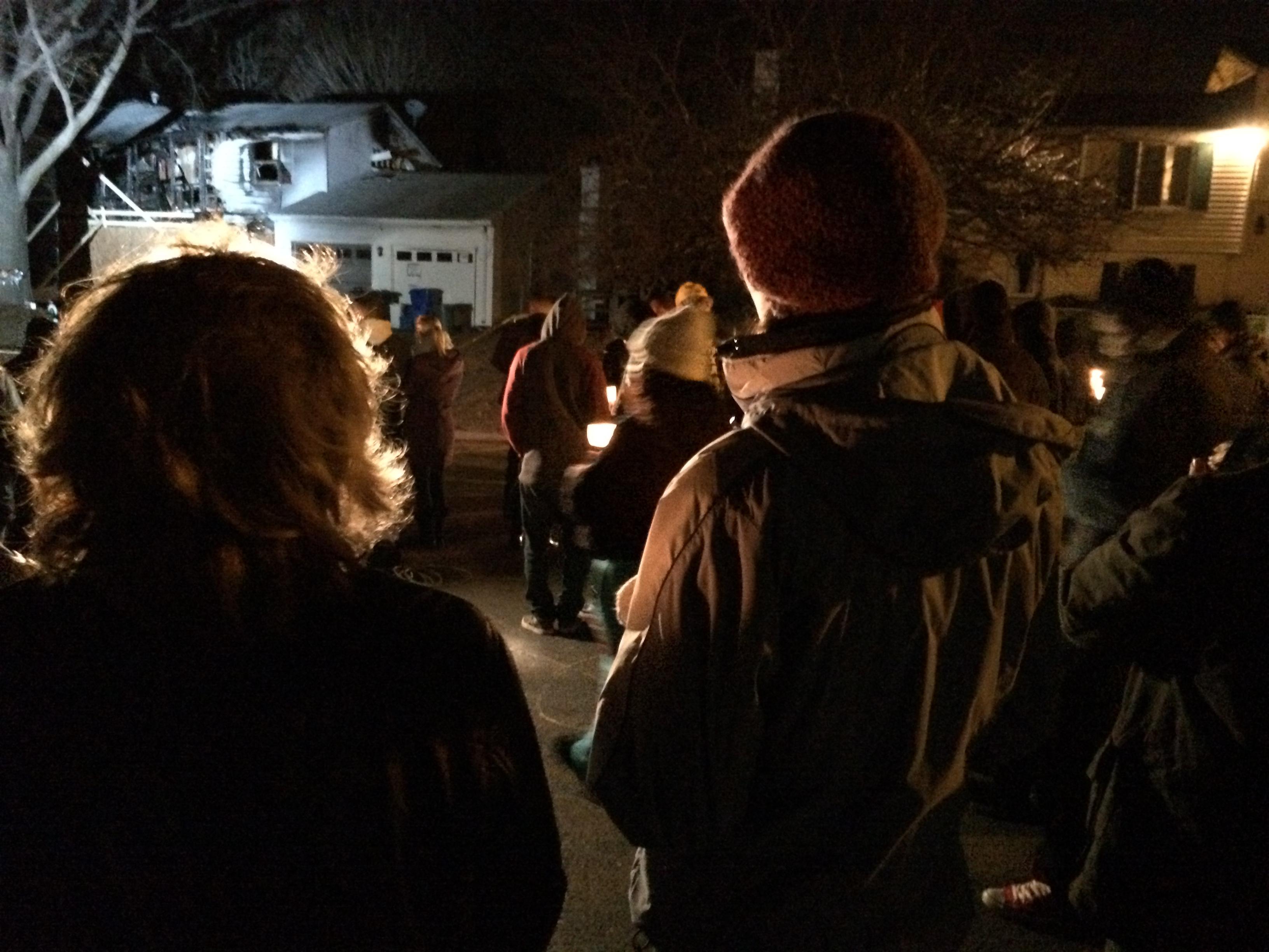 Vigil held outside Gemmell home after deadly plane crash