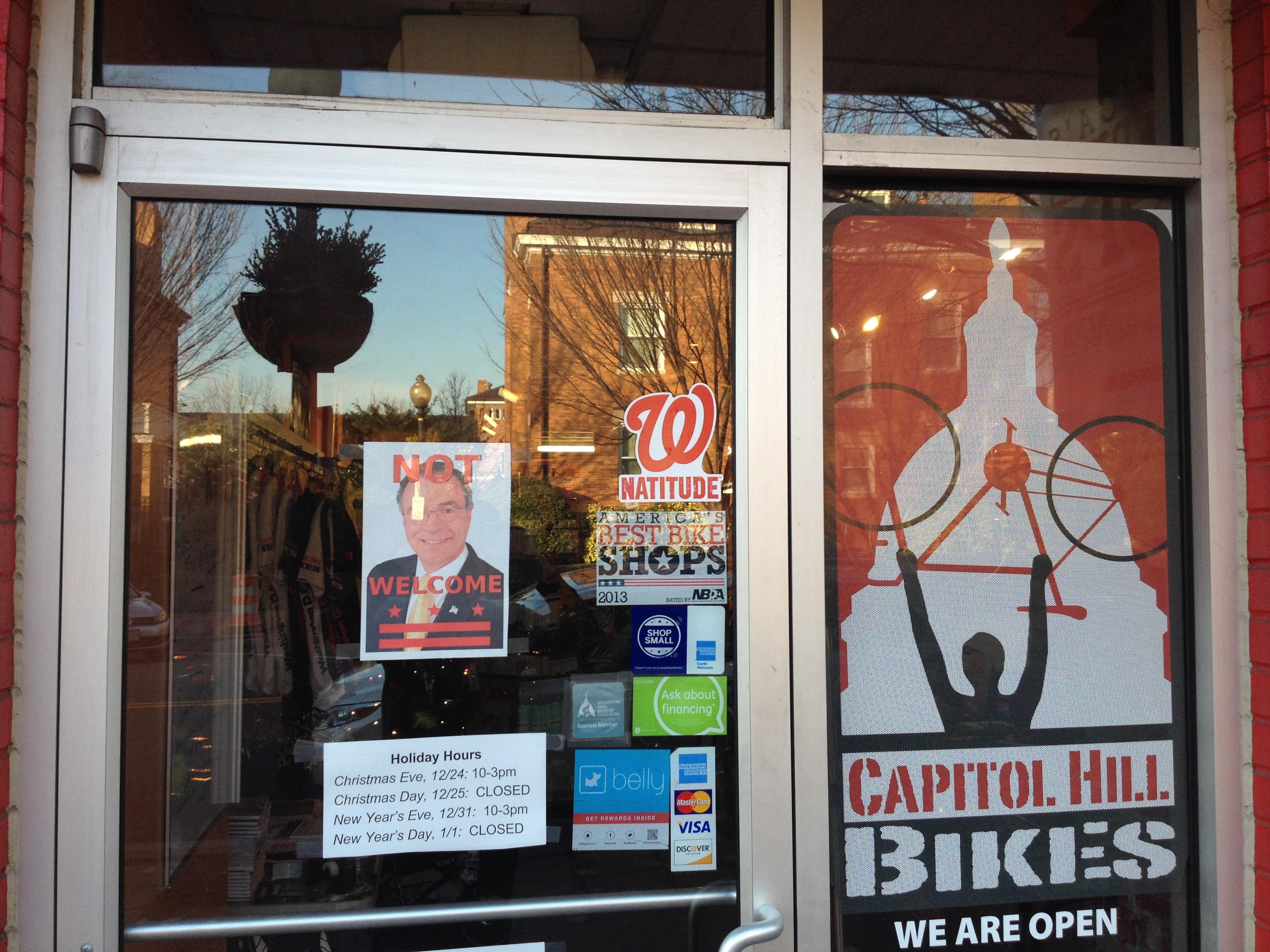 D.C. bike shop bans pot opponent Andy Harris