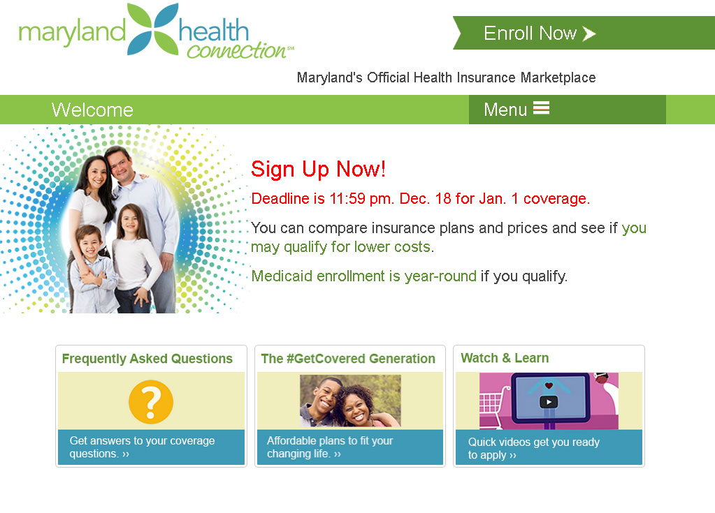 Signup deadline coming for Maryland health exchange