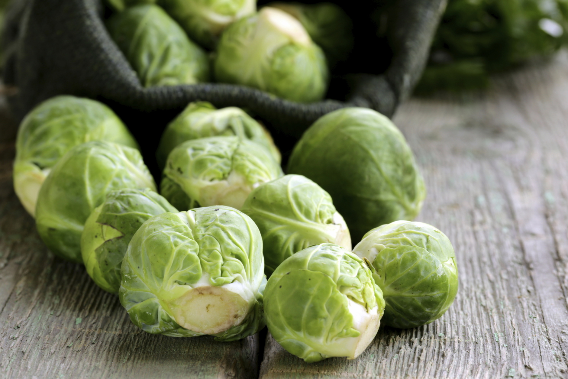 Don't limit Brussels sprouts to the bowl. Roast them and stick them on skewers with  chunks of roasted butternut squash and roasted red grapes for a tasty appetizer. (Thinkstock)