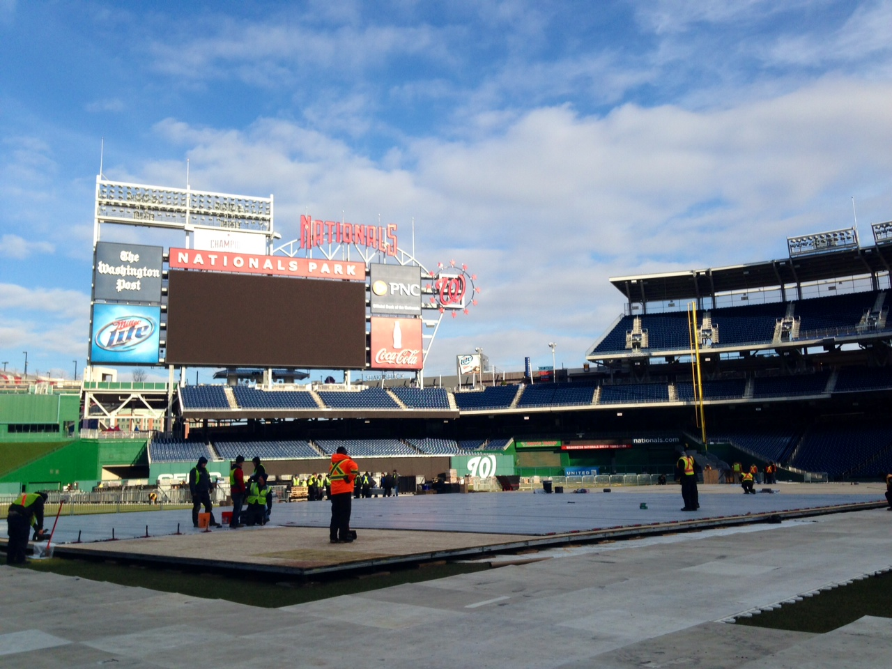Nationals Park getting a Winter Classic makeover