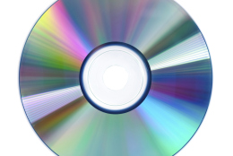 CD disc isolated