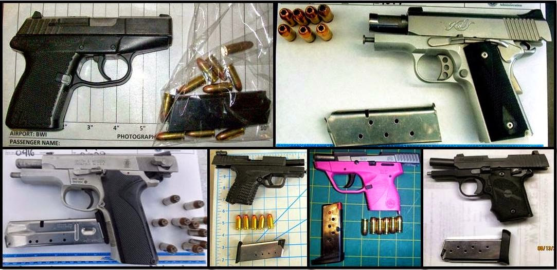 U.S. airport security stops record number of guns