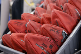 The controversy over potentially deflated footballs keeps the NFL relevant and top of mind in the two weeks between Championship Sunday and the Super Bowl. (AP Photo/Rick Osentoski)