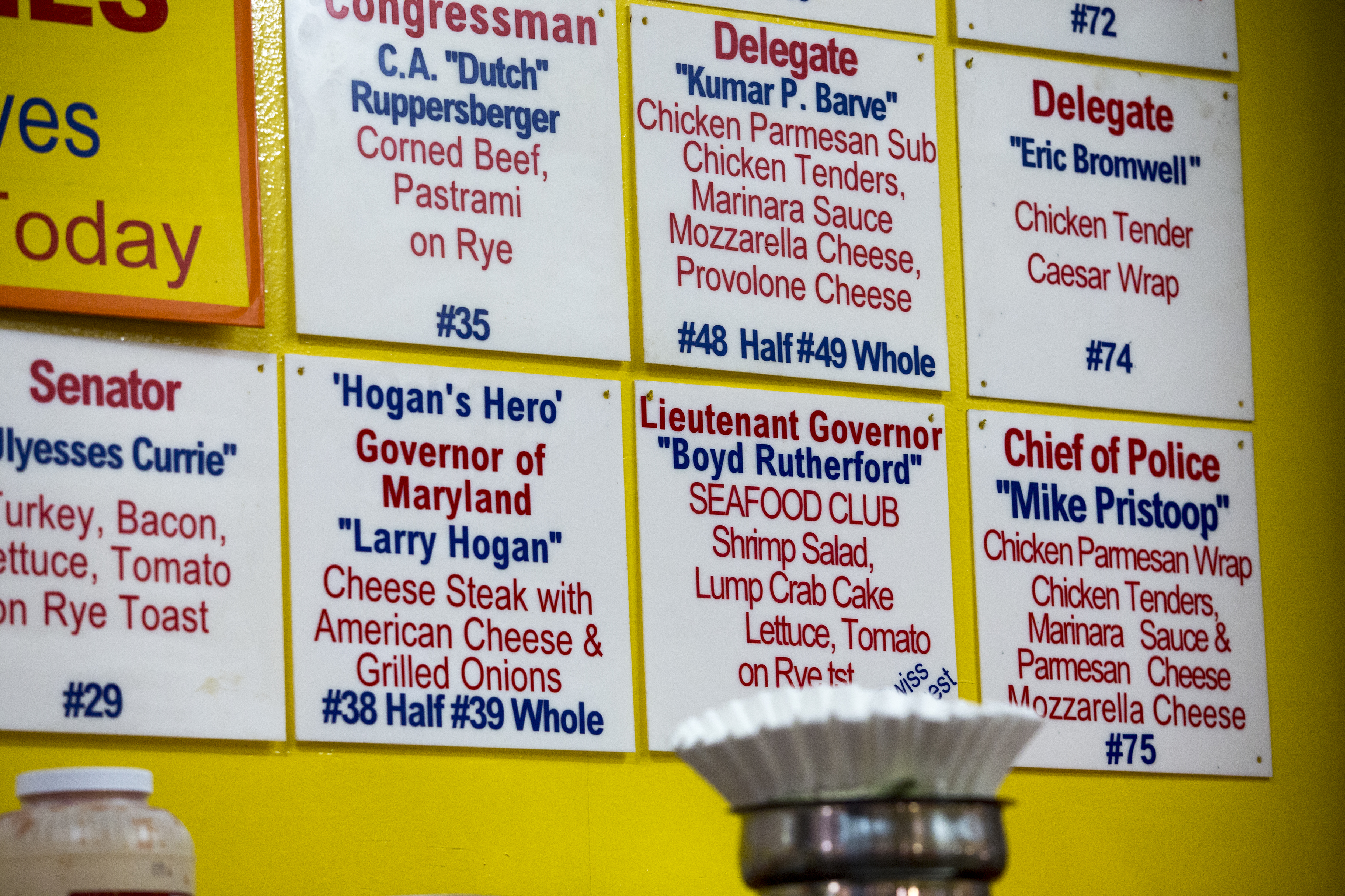 With new faces in state government come new sandwich names at Chick and Ruth's