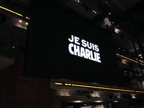 Vigil held at Newseum following mass shooting in France