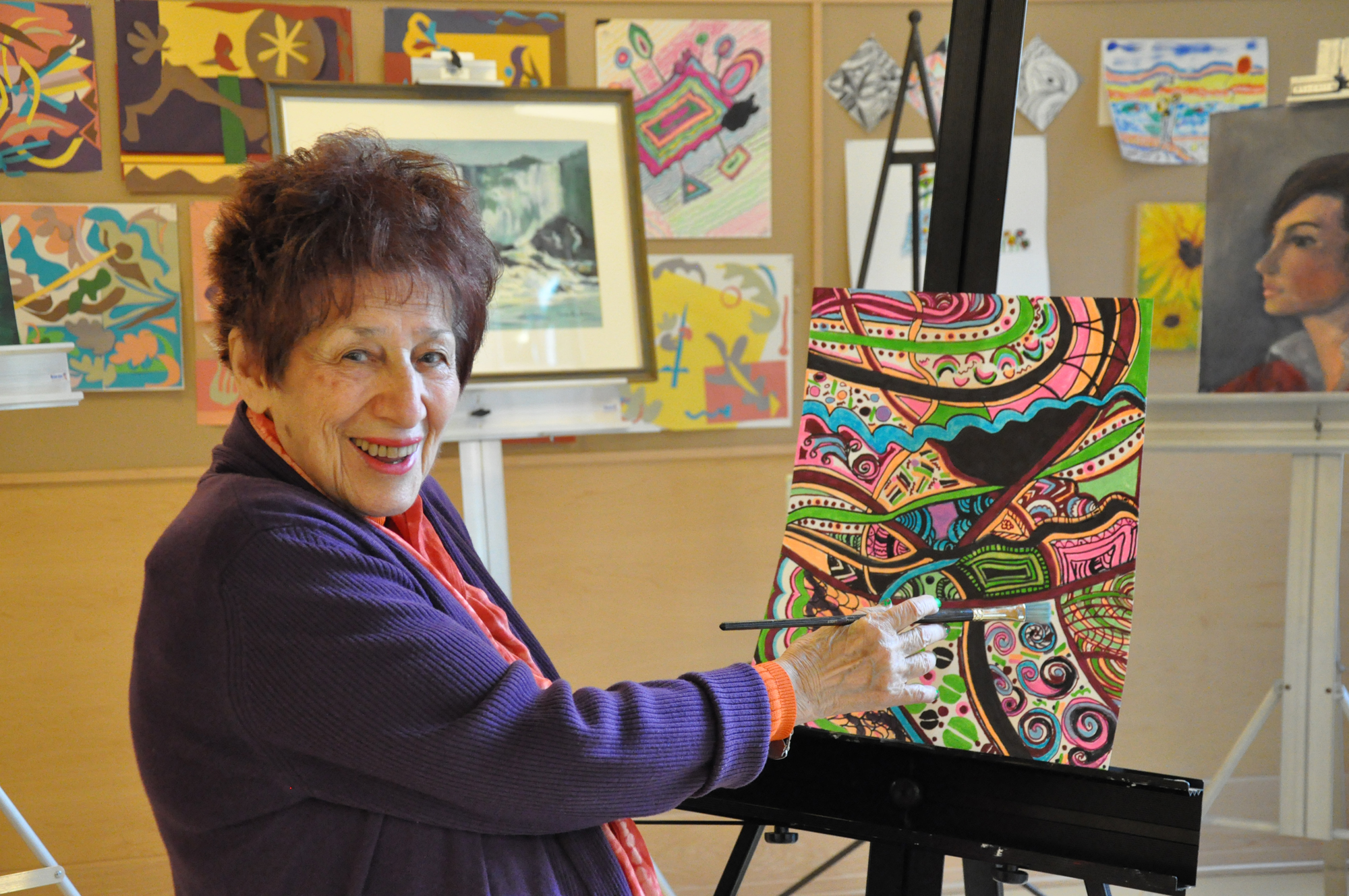 At 91, Bethesda painter lands first art show