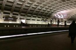 A day after a tragic Metrorail incident, there weren't as many people at L'Enfant Plaza on Tuesday. (WTOP/Nick Iannelli)