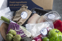 Sites like Blue Apron, HelloFresh and Plated deliver weekly boxes of raw ingredients _ including spices.  (AP Photo/Matthew Mead)