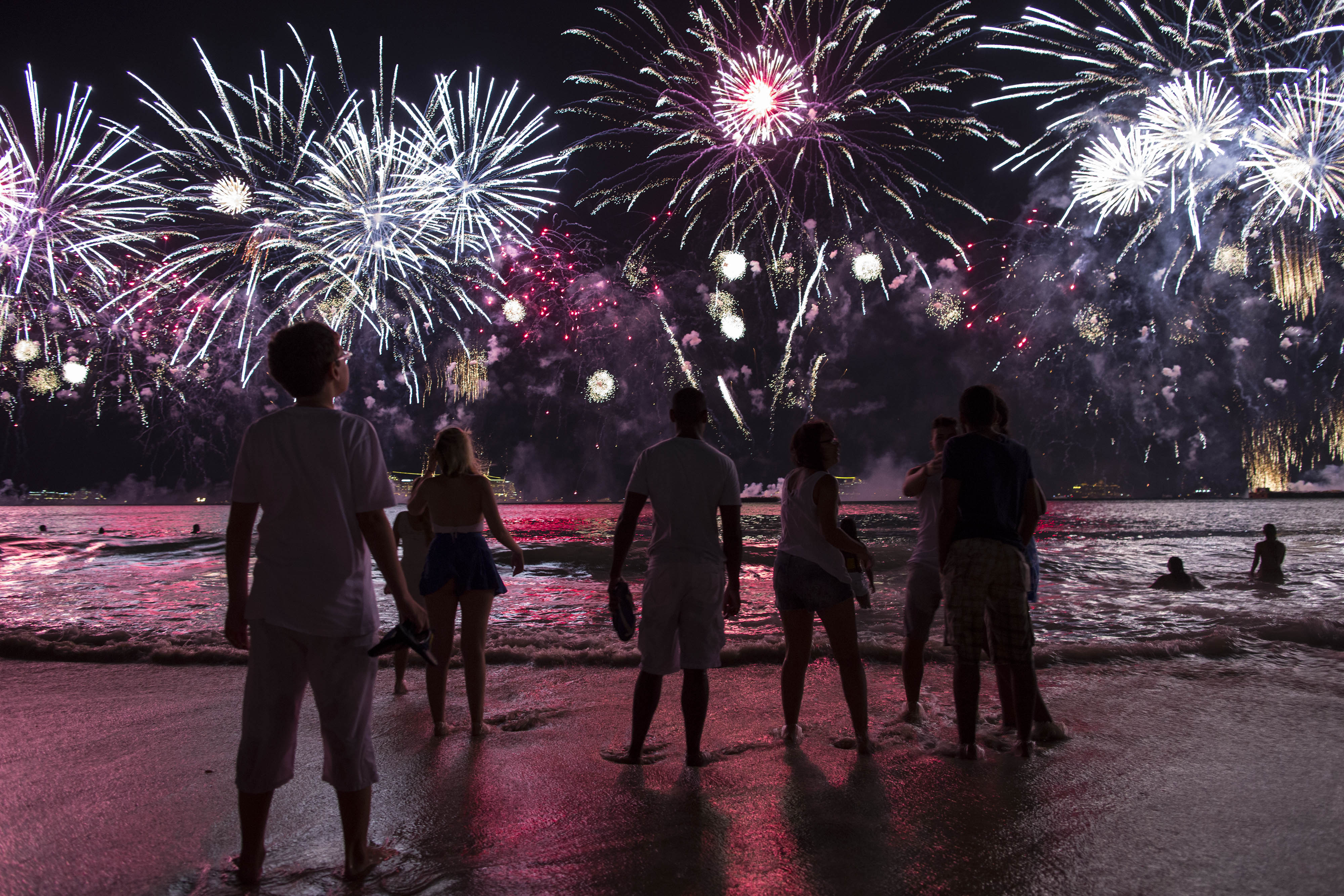 Fourth of July fireworks shows at Delmarva beaches